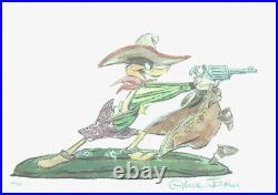 Warner Brothers-Chuck Jones-Limited Edition Paper-Daffy Duck-Drip-A-Long