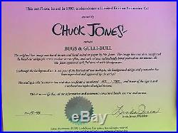 Warner Brothers Chuck Jones Signed Bugs Bunny Limited Edition Animation Cel