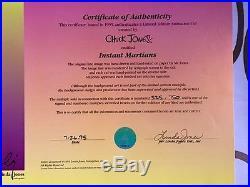 Warner Brothers Chuck Jones signed CEL INSTANT MARTIAN Marvin the Martian