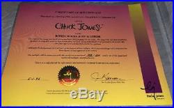 Warner Brothers Daffy Duck Cel Bow And Error Signed Chuck Jones Rare Cell