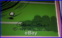 Warner Brothers Daffy Duck Cel Par None Signed by Chuck Jones Rare Edition cell