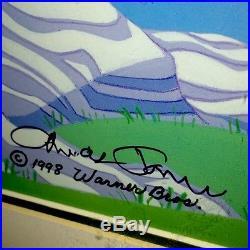 Warner Brothers Daffy Duck Cel Robin Hood Daffy Signed by Chuck Jones Art Cell