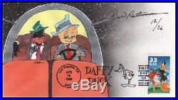 Warner Brothers Daffy Duck Porky Pig Cel Rocket Squad Signed Chuck Jones Cell
