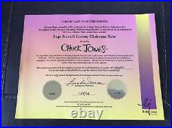 Warner Brothers-Duck Dodgers 1/1 Original Drawing with Cel Signed By Chuck Jones