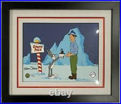 Warner Brothers Limited Edition Cel Hare's Looking at You Kid Signed Chuck Jones