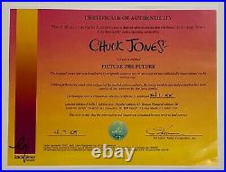 Warner Brothers Limited Edition Cel Picture the Future Signed By Chuck Jones