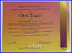 Warner Brothers Ltd Edition Cel Daffy & Hassan Call Me a Cab Signed Chuck Jones