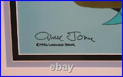 Warner Brothers Production Cel Bugs Bunny From Hare to Eternity Signed COA