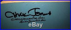 Warner Brothers Rare Chuck Jones signed Roadrunner Wile E Coyote Cel ACME ROCKET