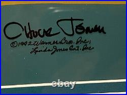 Warner Brothers animation cel Chuck Jones signed Wile E Coyote ACME ROCKET rare
