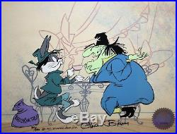 Warner Brothers signed Chuck Jones Ltd. Ed. Cel Bugs and Witch Hazel II