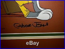 Warner bros animation cel bugs bunny sheriff bugs signed chuck jones rare cell