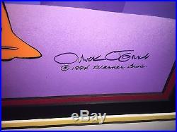 Warner bros cel daffy duck marvin planet x signed chuck jones last artist proof