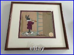 Warner brothers bugs bunny cel home sweet home signed chuck jones rare 30/50