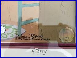Warner brothers bugs bunny cel home sweet home signed chuck jones rare cell