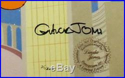 Warner brothers cel daffy duck porky pig duck dodgers II signed chuck jones cell