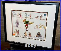 Warner brothers cel marvin martian signed chuck jones rare low edition cell