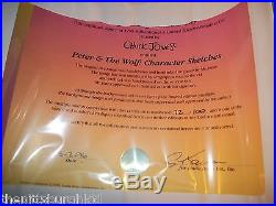 Wb Signed Chuck Jones Limited Edition Cel Peter & The Wolf Only 100 Made Sweet
