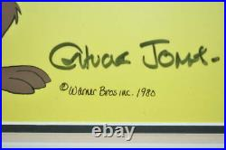 Weill Coyote Hand Ink Cell Painting Chuck Jones Autographed