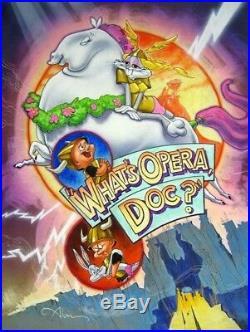What's Opera, Doc Bugs Bunny (cel related) art. Estate Signed Chuck Jones