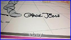 What's Opera Doc II Signed Chuck Jones Warner Brothers 460/500 Cel Framed