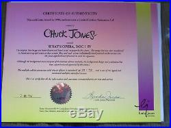 What's Opera Doc SIGNED CHUCK JONES Warner Brothers Limited Edition Cel FRAMED