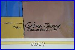 Whats the Verdict Chuck Jones Signed Animation Cel Loony Tunes Warner Bros 88