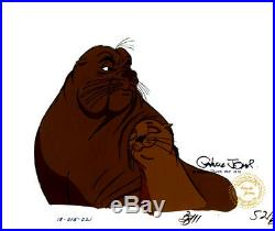 White Seal Chuck Jones Signed 1975 Original Production Cell COA and Seal