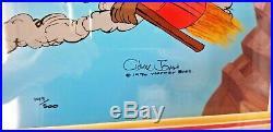 Wile E. Coyote Acme Splatman Warner Bros Ltd Ed Cel Hand Signed By Chuck Jones