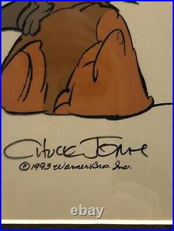 Wile E Coyote Animated Cel by Chuck Jones, 1993, signed/authenticated. Perfect