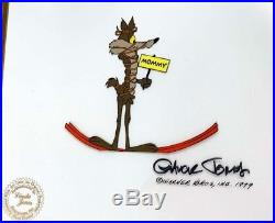 Wile E Coyote Chuck Jones Signed Production Cel 1979 Bugs Bunny Looney Christmas