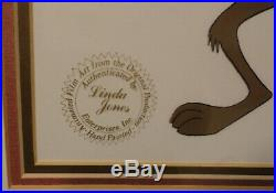 Wile E. Coyote Framed Animation Cel Signed by Chuck Jones. 1980. Full Body
