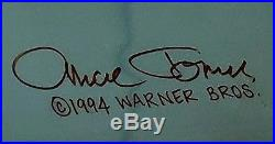 Wile E Coyote Hand Painted Authentic Cel Signed Chuck Jones Certificate