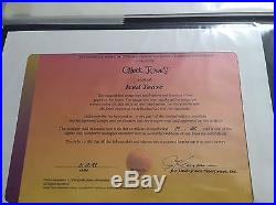 Wile E. Coyote, Road Runner Released 1998 Signed by Chuck Jones Cel Art