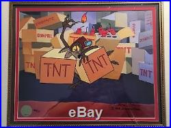 Wile E. Coyote TNT Limited Edition Cel Signed By Chuck Jones 1998 Road Runner