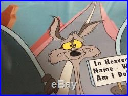 Wile E Coyote signed Chuck Jones Chariots of Fur